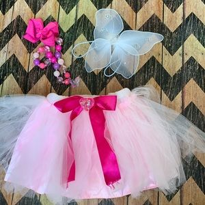 Other - Pink Tulle Tutu with White Butterfly Wings